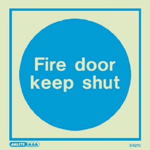 (5421) Fire door keep shut sign